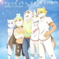 thank you friends by 雨涵酱